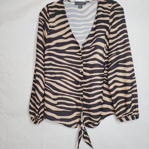 2/$25   Primark animal print blouse
